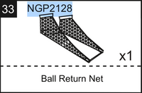 Replacement Part NGP2128 Ball Return Net
