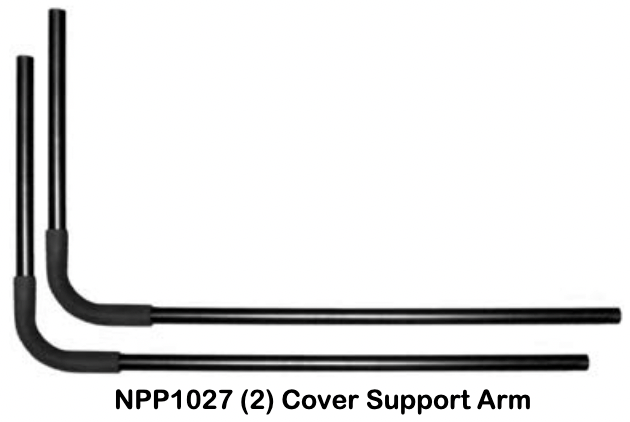 Replacement Part NPP1027 2 (TWO) Cover Support Arms