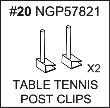 Replacement Part NGP57821 Table Tennis Post Clips