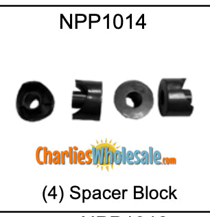 Replacement Part NPP1014 Spacer Block Set of 4