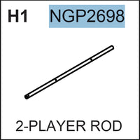 Replacement Part NGP2698 2 Player Rod