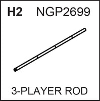 Replacement Part NGP2699 3-Player Rod
