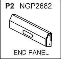 Replacement Part NGP2682 End Panel