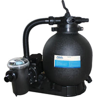 "AquaPro Complete 1 HP Pump with 15"" Sand Filter System for Above Ground Pools"
