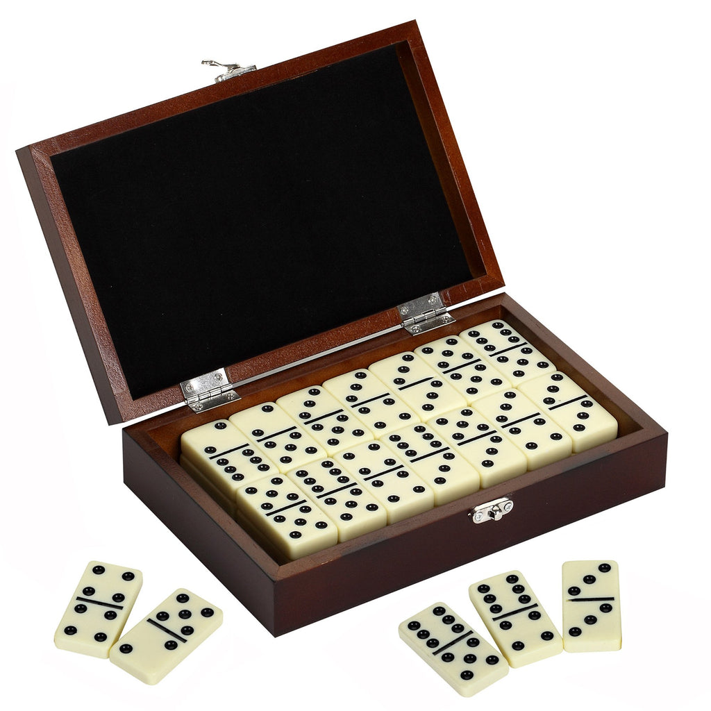 Premium Domino Set w/ Wooden Carry Case