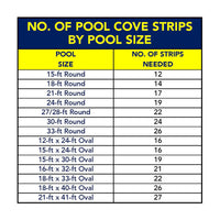 Foam 45 Degree Pool Cove for Above Ground Pool Liner Installation