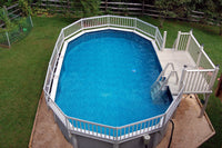Deluxe 24-in In-Pool Step for Above Ground Pools - Taupe