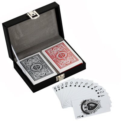 Monte Carlo Dual Deck Standard Playing Cards w/ Case