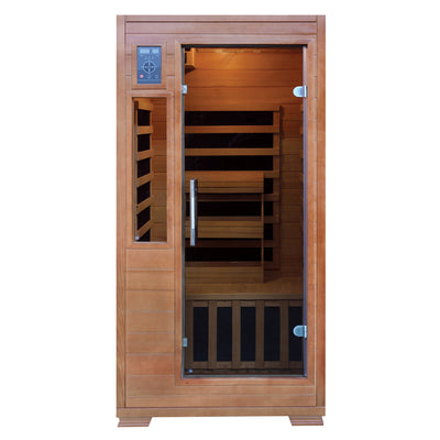 Majestic 1-2 Person Hemlock Infrared Sauna with 5 Carbon Heaters