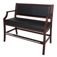 Hampton Club Spectator Bench - Walnut Finish