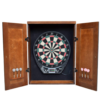 Brookline Electronic Soft Tip Dartboard Cabinet Set