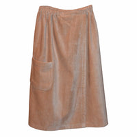 Women's Spa & Bath Terry Cloth Towel Wrap - Tan