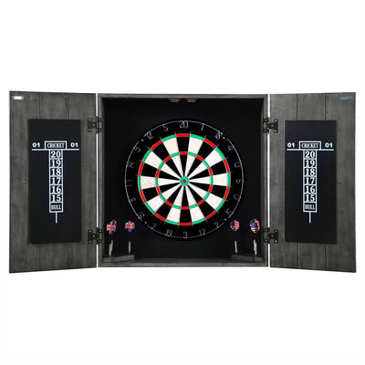 Drifter Solid Wood Dartboard & Cabinet Set