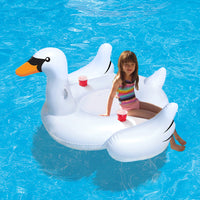 Elegant Giant Swan 73-in Inflatable Ride-On Pool Float