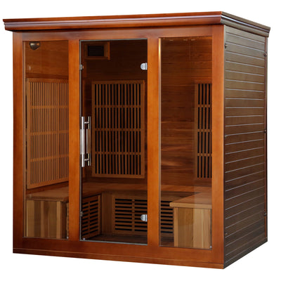 Cedar Elite 4-5 Person Premium Infrared Sauna with 9 Carbon Heaters