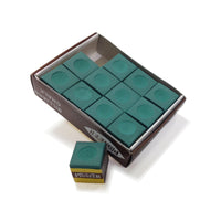Green Billiard Pool Cue Chalk
