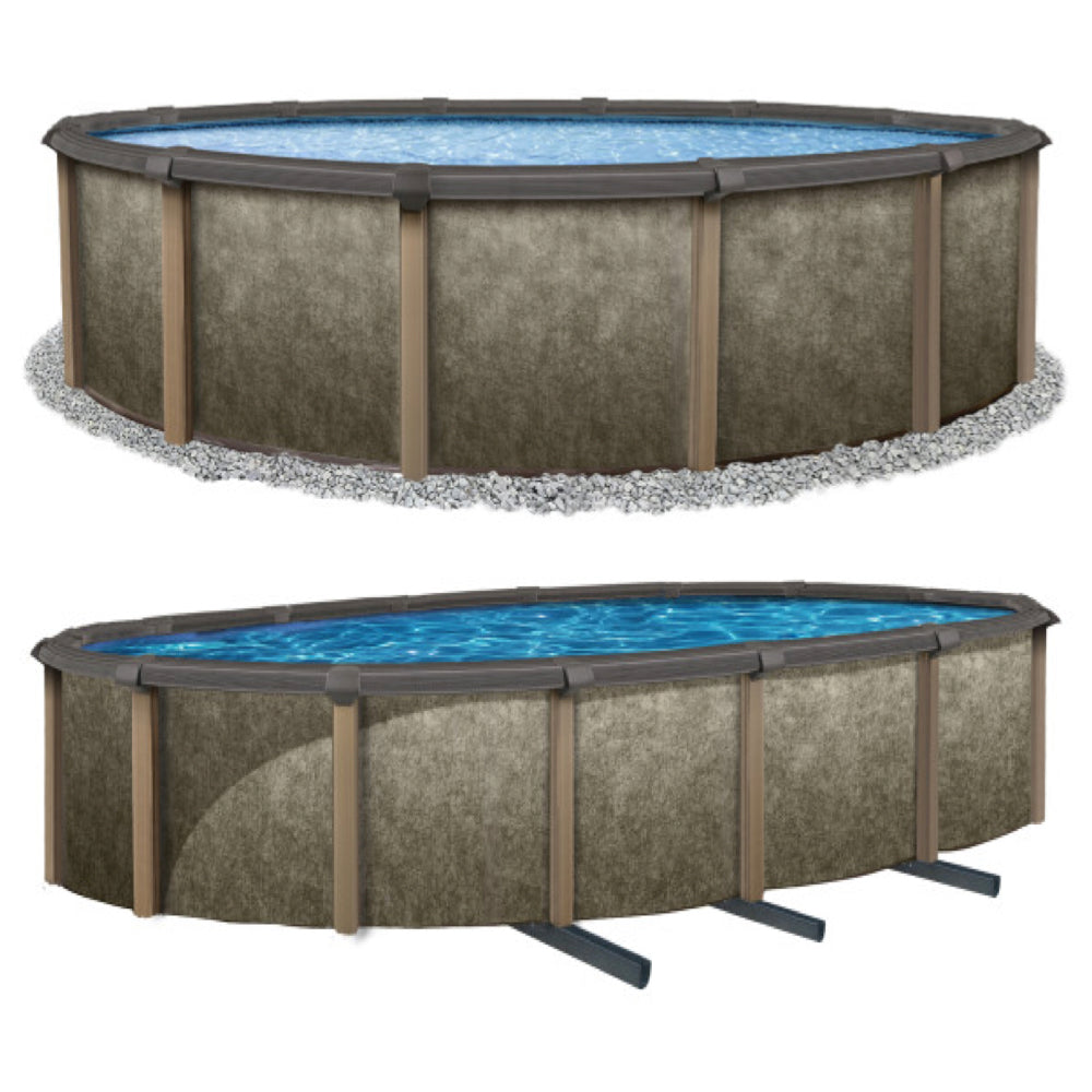 Matrix 18 x 33 Oval 54 Resin Above Ground Swimming Pool ...