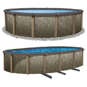 "Riviera 54"" Tall Salt Friendly Resin Hybrid Above Ground Pool Kit plus Starter Package"