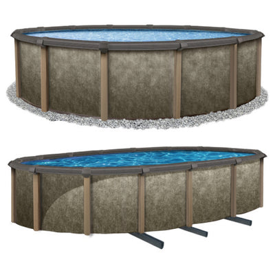 Riviera Salt Friendly Resin Hybrid Above Ground Pool Kit