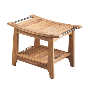 Teak Shower & Sauna Bench with Storage