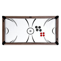 Driftwood 7' Air Hockey + Table Tennis + Dining Combo Set