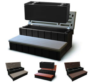 "Confer Plastics 36"" Spa Steps with Convenient Large Storage Compartment"