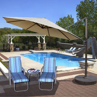 Victoria 13-ft Octagonal Cantilever Patio Umbrella in Sunbrella Acrylic
