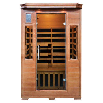 Majestic 2 Person Hemlock Premium Infrared Sauna with 6 Carbon Heaters