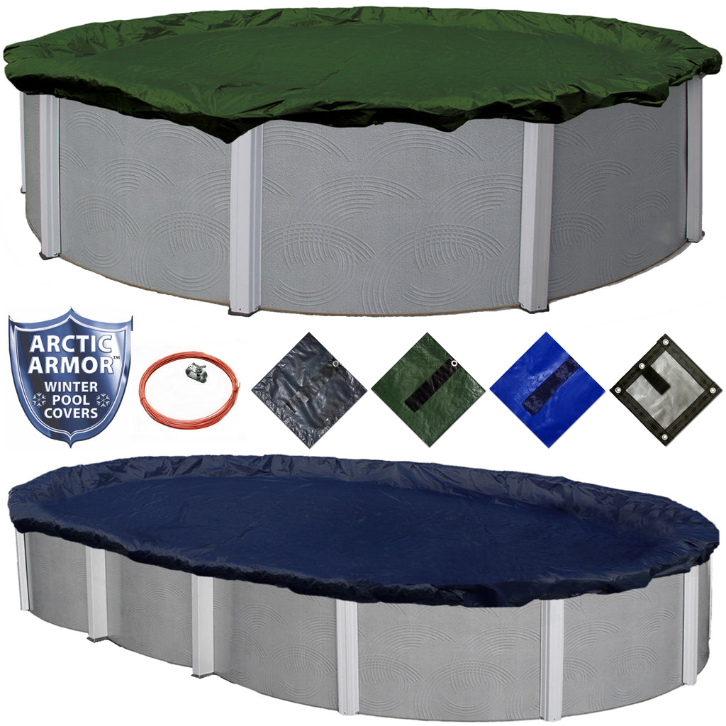 Arctic Armor Above Ground Swimming Pool Winter Cover in All Round or Oval Sizes