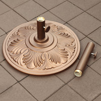 50-lb Art Deco Aluminum Umbrella Base in Bronze