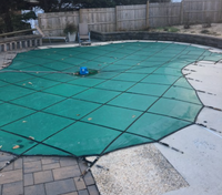 Custom Swimming Pool Winter Safety Cover QUOTE and SAMPLE MATERIALS Mesh & Solid