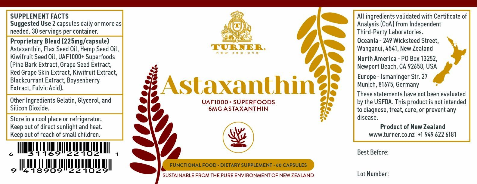 Astaxanthin Power - TURNER New Zealand