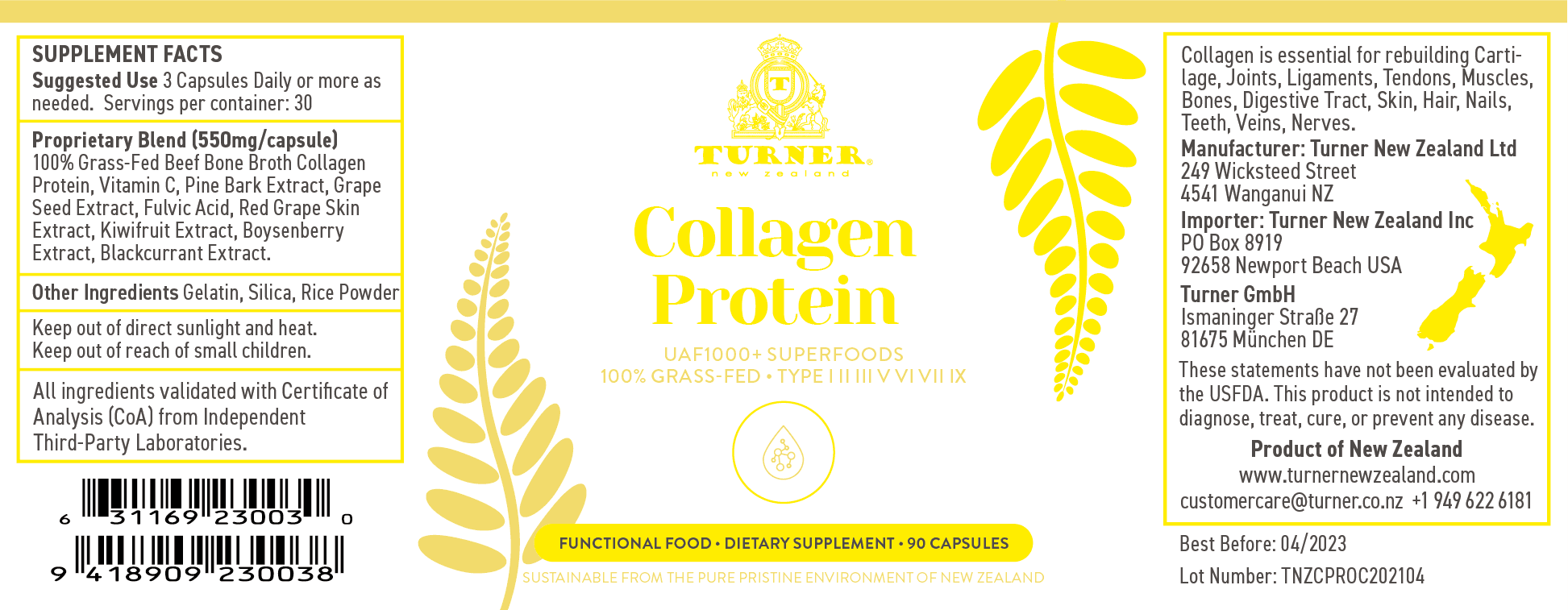 Collagen Protein - TURNER New Zealand