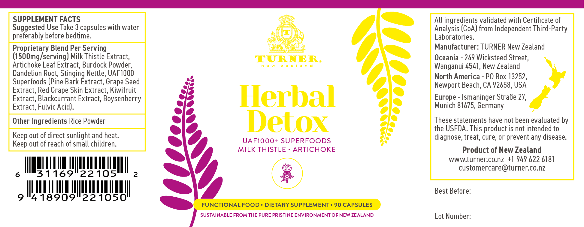 Herbal Detox - TURNER New Zealand