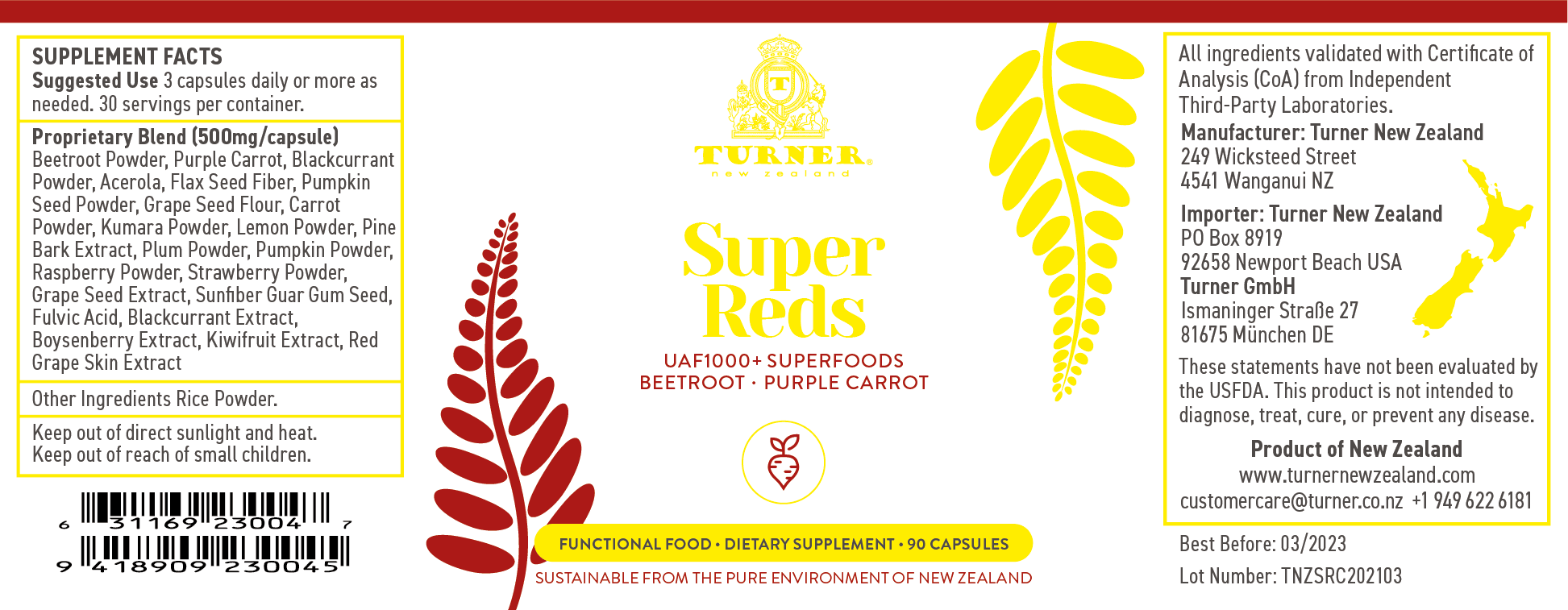 Super Reds - TURNER New Zealand