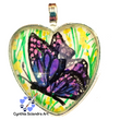 One of A Kind Hand Painted Purple Butterfly