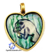 One of A Kind Hand Painted Manatee Pendant