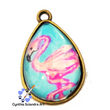 One of A Kind Hand Painted Dancing Flamingo Pendant
