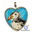 One of A Kind Hand Painted Puffin Pendant