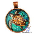 One of A Kind Hand Painted Sea Turtle Pendant A