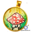 One of A Kind Hand Painted Mellow Mushroom Pendant