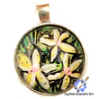 One of A Kind Hand Painted Tropical Paradise Pendant