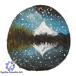 Hand Painted Mountain Reflection