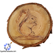 Wood Burned Curious Squirrel Ornament or Coaster