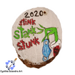 Hand Painted 2020 Ornament  (B)