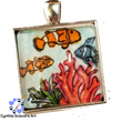 One of A Kind Hand Painted Clown Fish (Pendant Only)