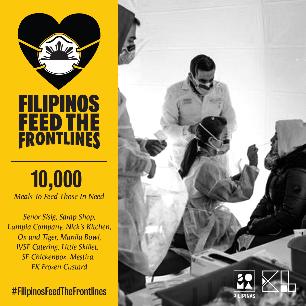 Filipinos Feed the Frontlines campaign poster