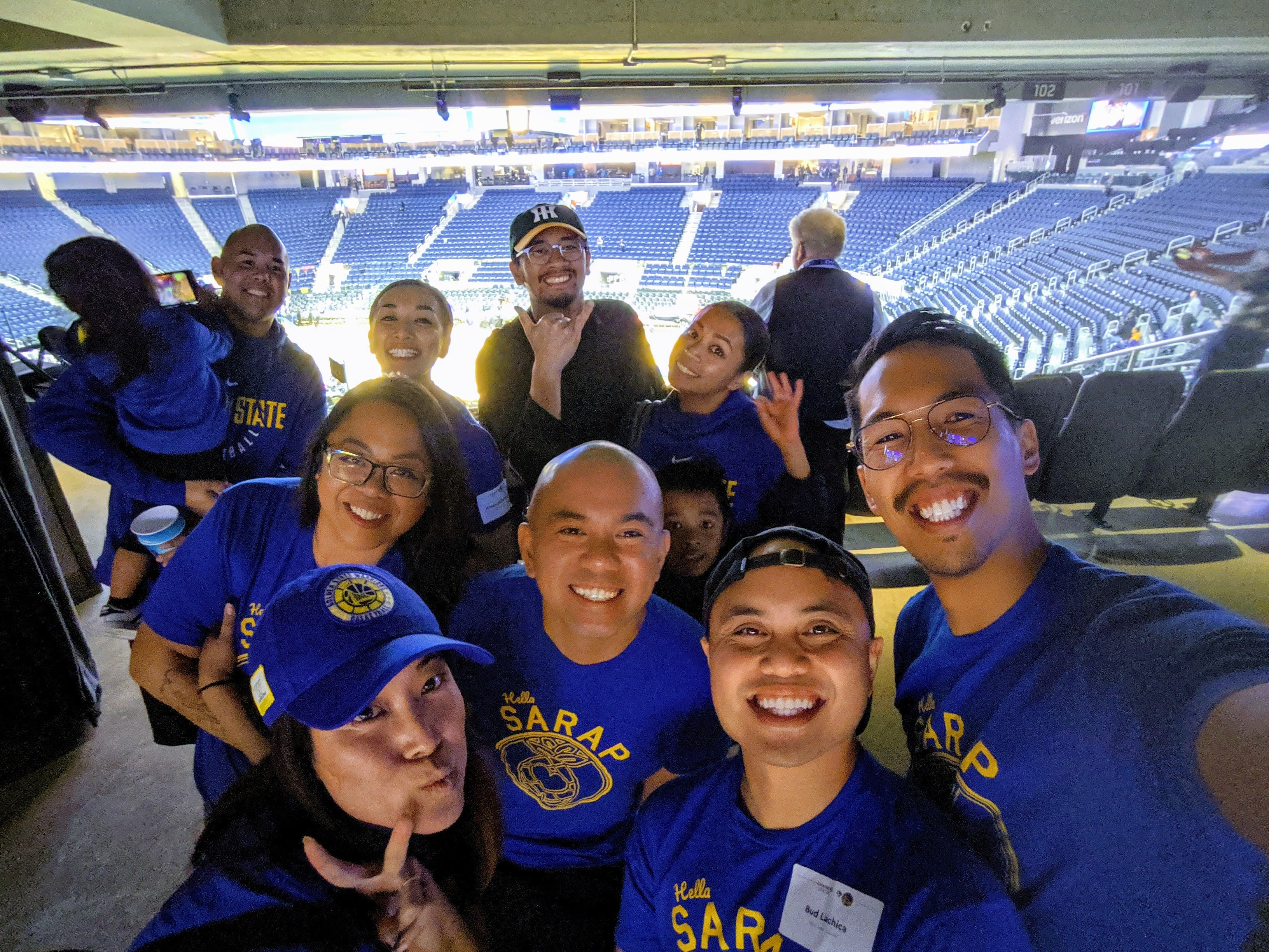 Team Sarap at the Warriors Chase Center Arena