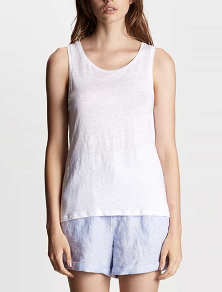 Pippa Linen Tank - White or Grey Marle