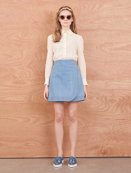 Horticulture Denim Skirt - Light Blue